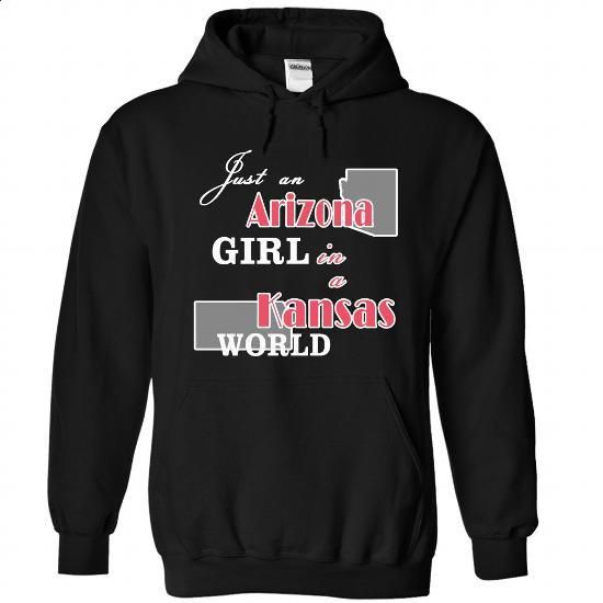Design1 Just an Arizona Girl in Kansas world XMAS - #tshirt frases #tshirt feminina. PURCHASE NOW => https://www.sunfrog.com/States/Design1-Just-an-Arizona-Girl-in-Kansas-world-XMAS-1369-Black-Hoodie.html?68278
