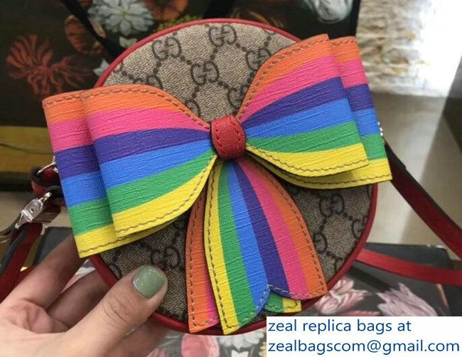 d8b22ad866c Gucci Children Multicolor rainbow Bow GG Messenger Bag 478294 2018 ...