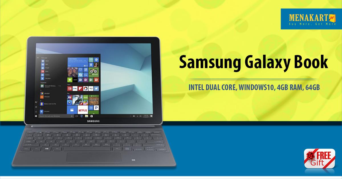 Shop For Samsung Galaxy Book 10 6 Dual Core 206ghz Windows 10 4gb Ram Online Menakart Products Uae Lebanon Iran