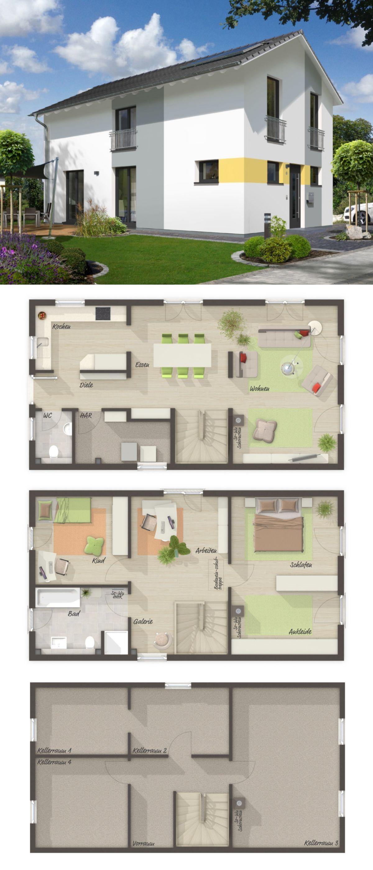 Small House Plans Modern European Style Architecture Design Aura 125 Dream Home Ideas La Grundriss Einfamilienhaus Schmales Haus Grundrisse Town Country Haus