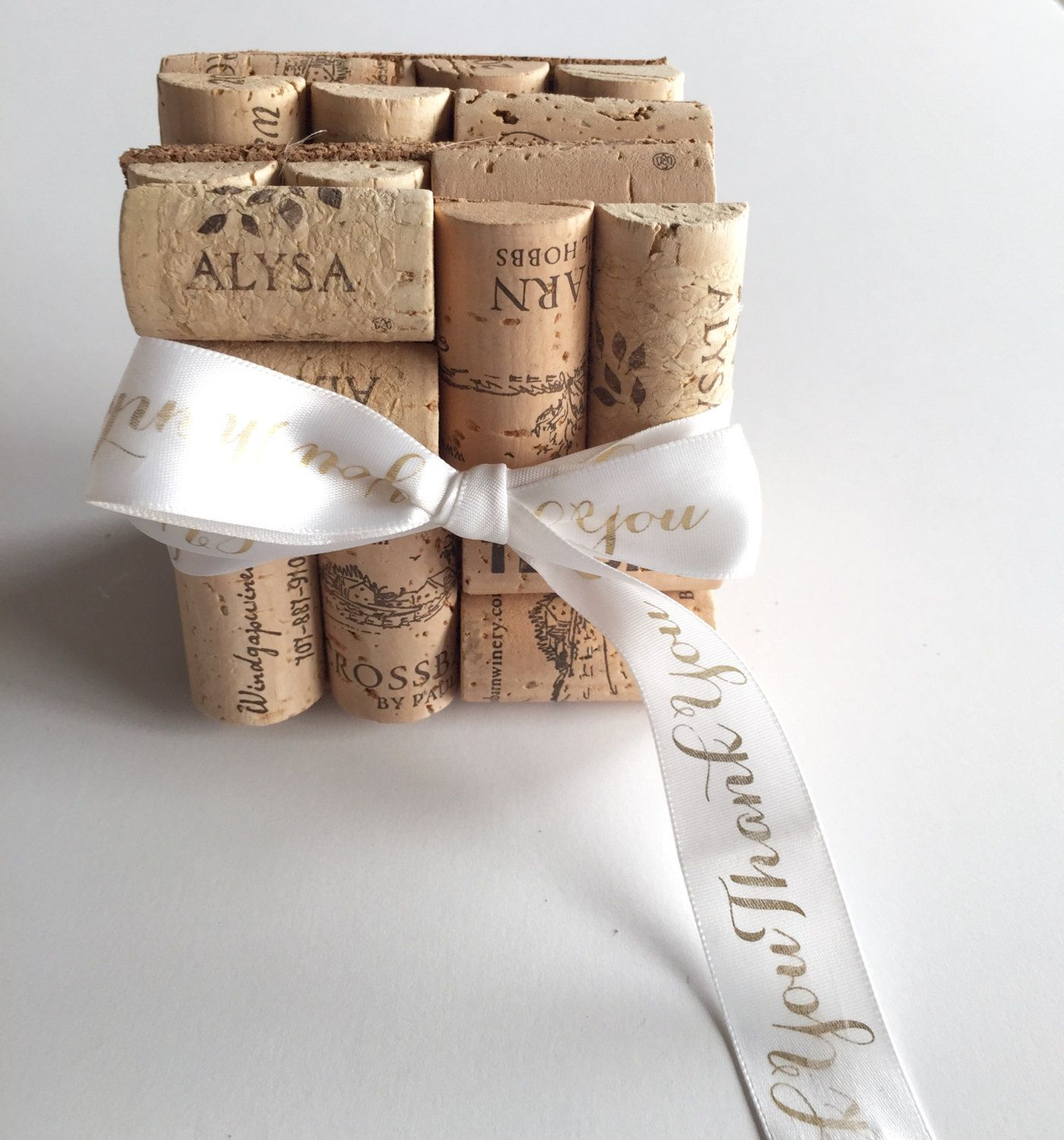 Wine Cork Coasters, Thank You Gift, Wedding Favors, Unique Wedding ...