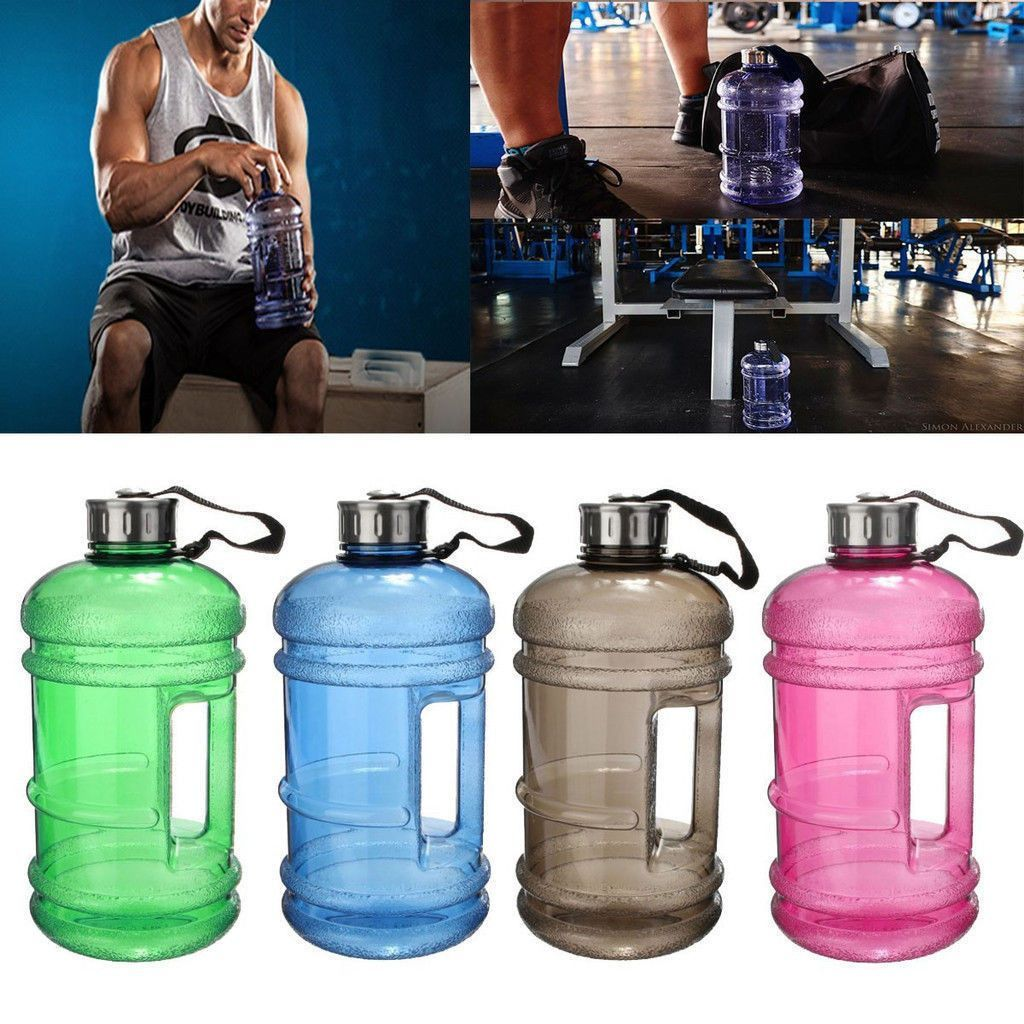 2.2L Large Drink Water Bottle Cap Big BPA Free Gym Training Sport Kettle Workout