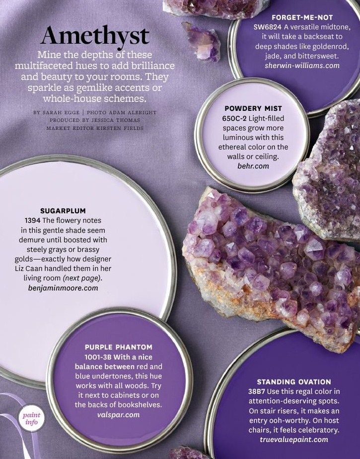 Amethyst Paint Colors By Bhg Interiors Color
