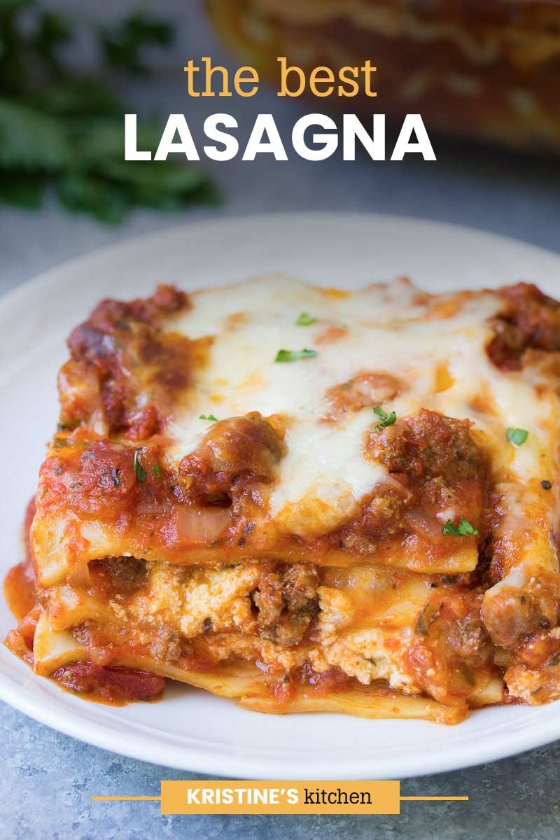 The Best Lasagna Easy Recipe In 2020 Best Lasagna Recipe Easy Lasagna Recipe Chicken And Beef Recipe