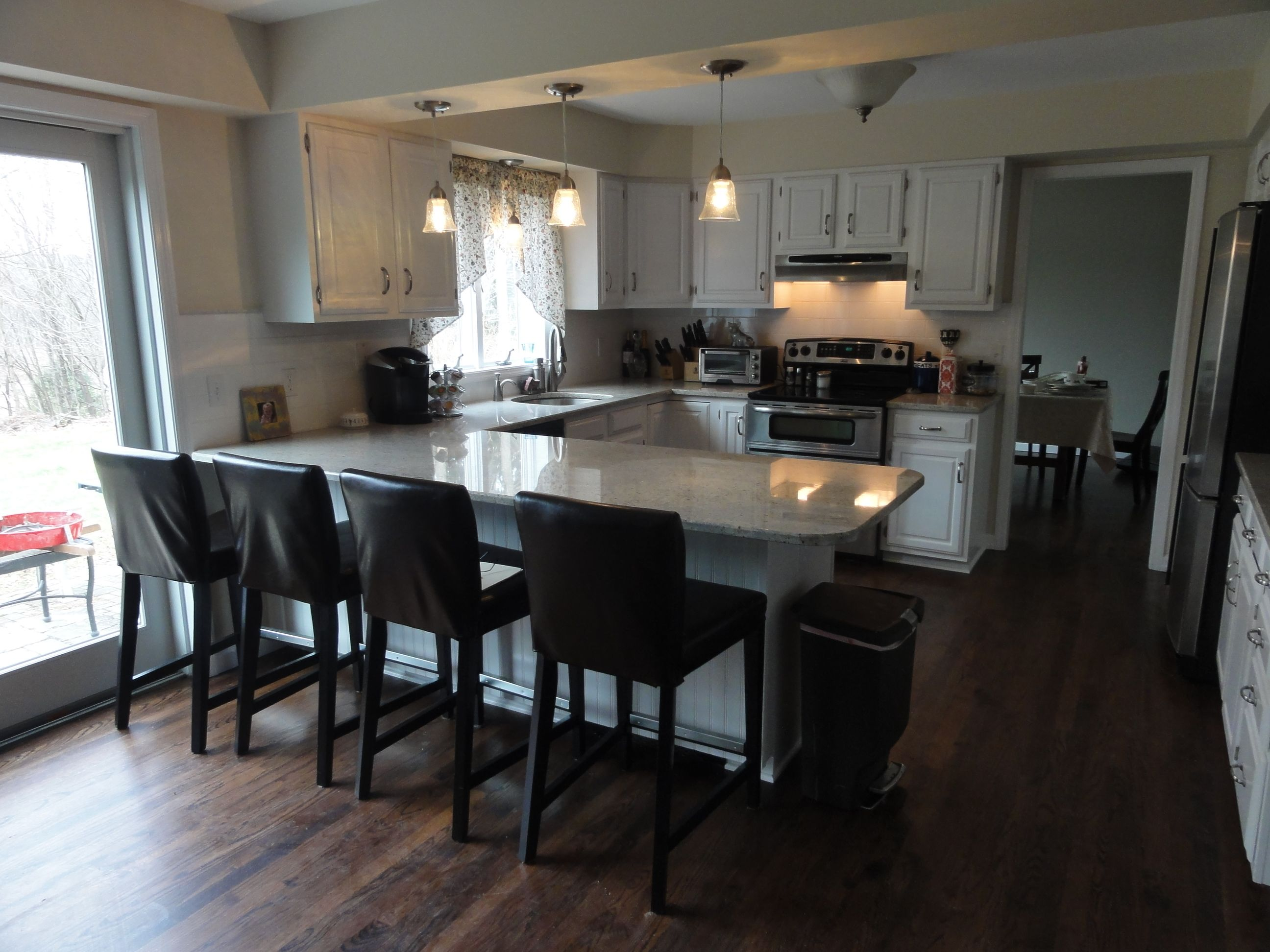 before and after small ushaped kitchen remodel office designs pictures u shaped with breakfast on u kitchen remodel id=19487
