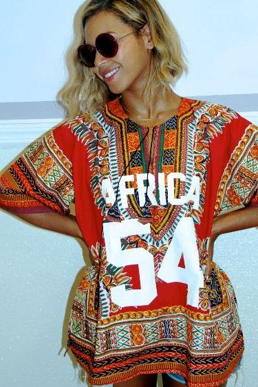 Beyonce rockng a dashiki  | Angelina Cloth | African fashion