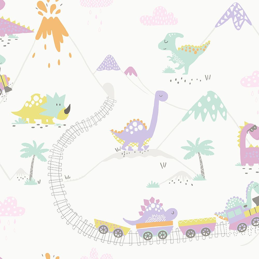 Dino Town by Albany Multi Wallpaper 12532 in 2019