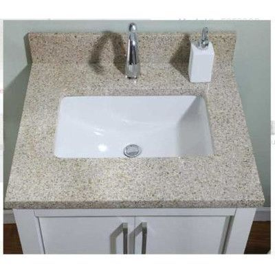Bathroom Vanity 31 X 22 empire industries euro granite single bathroom vanity top finish