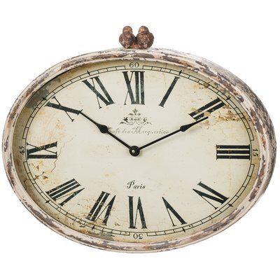 "Roman Numeral Distressed 20"" Wall Clock"