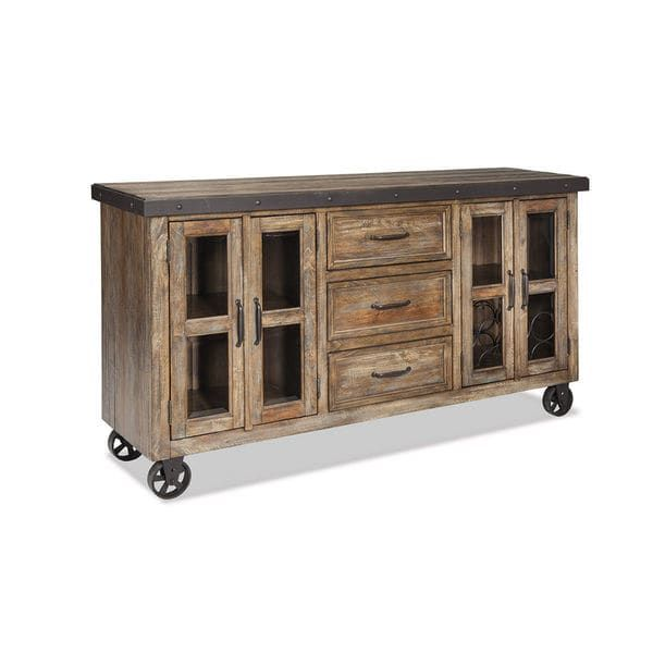 Intercon Taos Canyon Brown And Metal Sideboard Dining Room