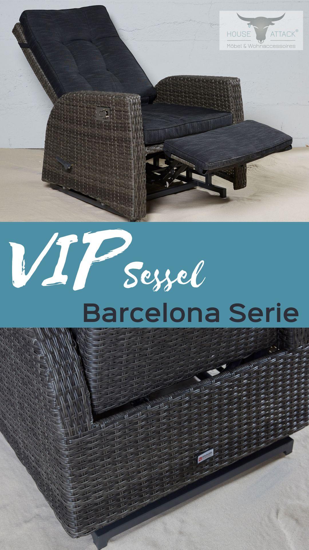 Lc Garden Gartensessel Vip Loungesessel Barcelona Living Grau Mix