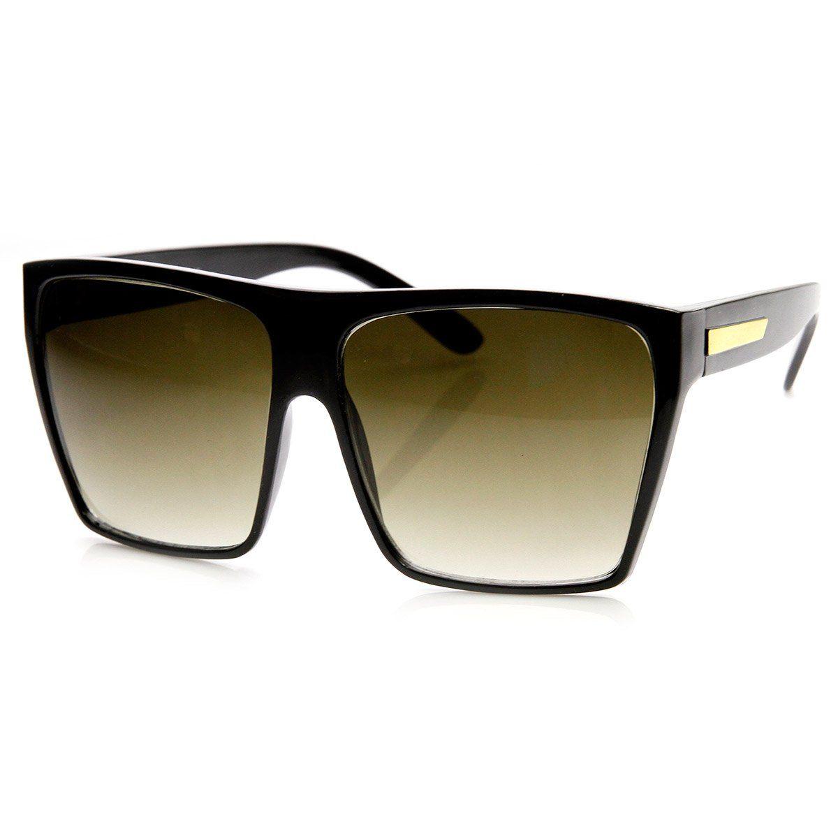 d29c947210 Large Oversized Retro Fashion Square Flat Top Sunglasses