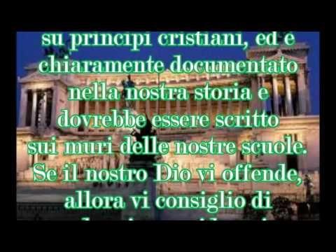 Dichiarazione degli Italiani agli immigrati - YouTube