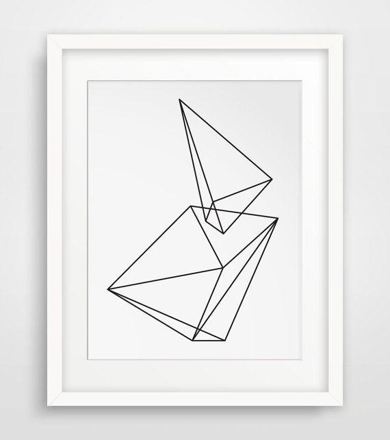 Geometric Print Wall Prints Black And White Print Print Art Abstract Prints Geometrical Geometric Print Art Geometric Art Prints Coral Wall Art Geometric