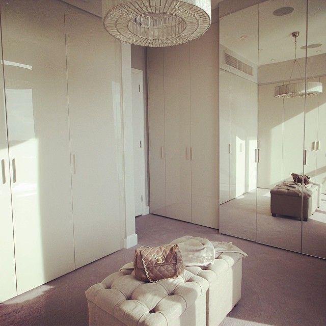 A #dressingroom we designed for one of our #london #clients. #riversidepenthouse #apartments #londonpenthouse #londondesign #greige #greyinteriors #neutralinteriors #grahamandgreen#lighting #chanel #designspacelondon #wardrobes #storage #project #interiors #interiordesign #decor #design