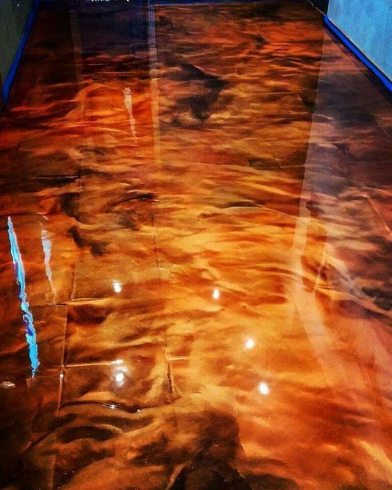 Metallic Epoxy Granite Brass Copper Metallic Epoxy