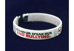 End Bullying Fabric Bangle Bracelet