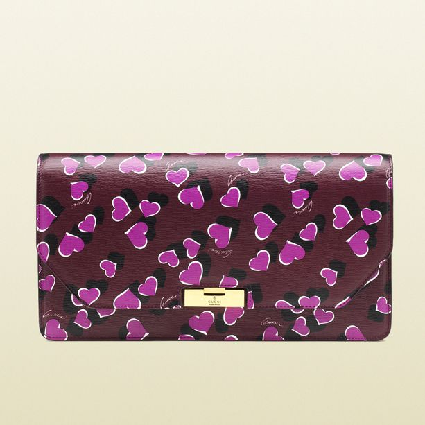 Printed leather clutch Gucci vdby0nscc
