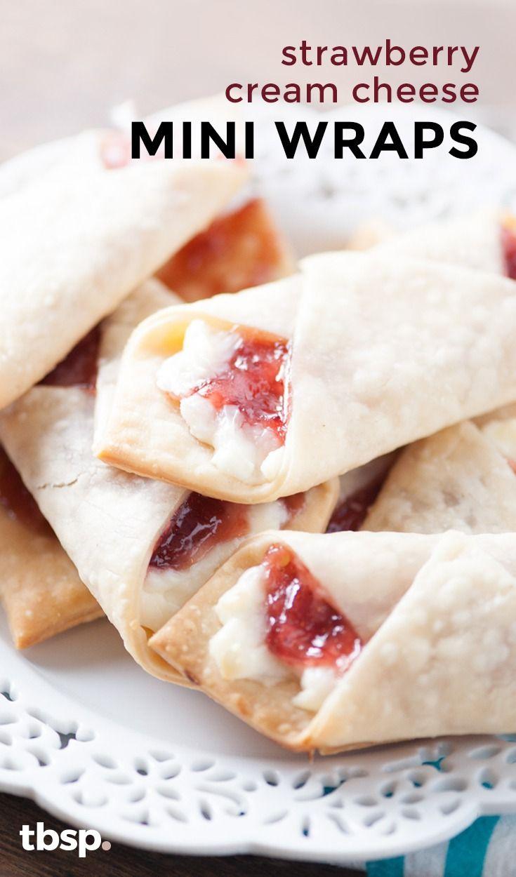 Strawberry Cream Cheese Mini Wraps Recipe In 2019