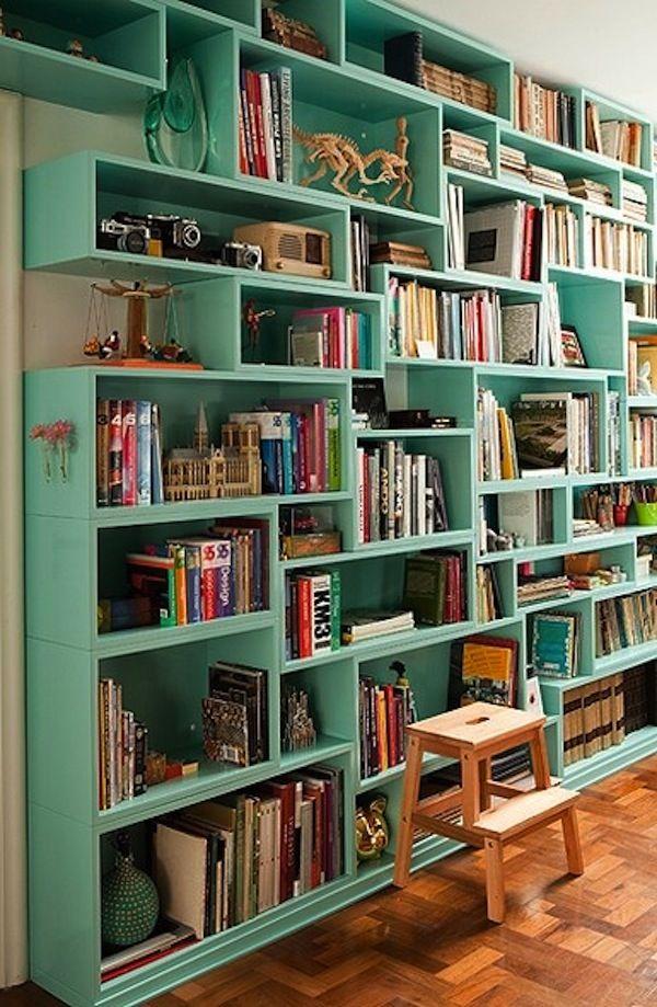 Originally Posted By Eclectic Mermaid Book Shelves Green Bookshelves Bookshelf Ideas Modular