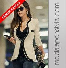 Japon Style Blazer Ceket Moda Stilleri Kadin Kiyafetleri Kadin Ceketleri