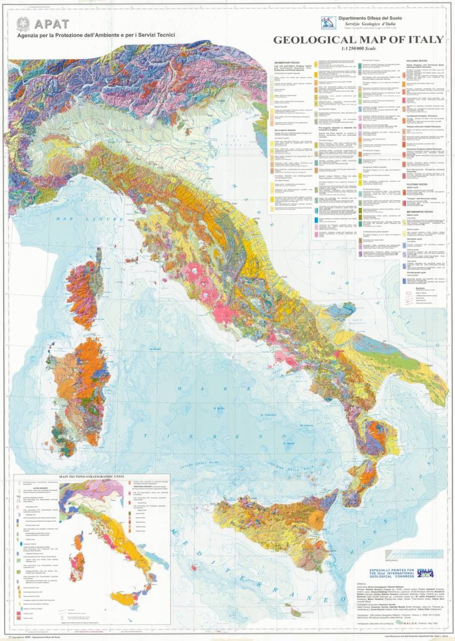 Geologic Map Of Europe.Geological Map Of Italy Mapping Pinterest Italy Map Map And