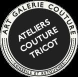 Art Galerie Couture • Ateliers • Retouches • Créations Les logos que j'ai mis en place pour vous présenter mes services #AGC