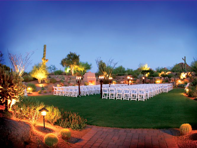 Beautiful Desert View At Troon North Golf Club Outdoor Wedding And Ceremony Setting Photo By Photography Arizona