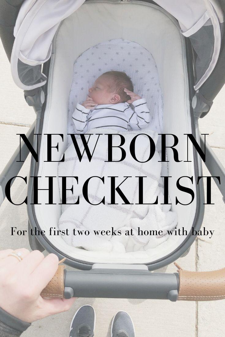 Newborn checklist the first two weeks blueprint by