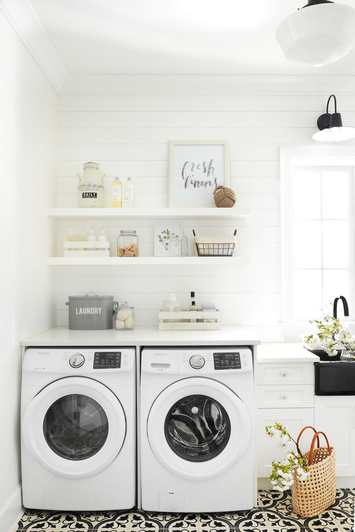 My Full Home Tour House Tours Laundry Mud Room Powder Room Vanity