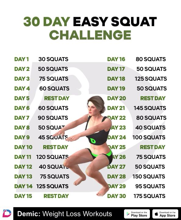 Photo of 30 Day easy squat challenge