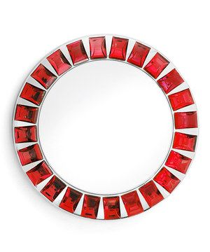 Look what I found on #zulily! Red Jeweled Mirror Charger Plate by Jay Import #zulilyfinds