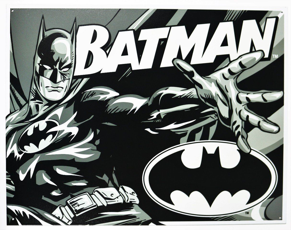 Batman Duotone Tin Sign 16 X 13in Check This Awesome Product By Going To The Link At The Image Note Amazon Af Batman Wall Art Comics Wall Art Batman Sign