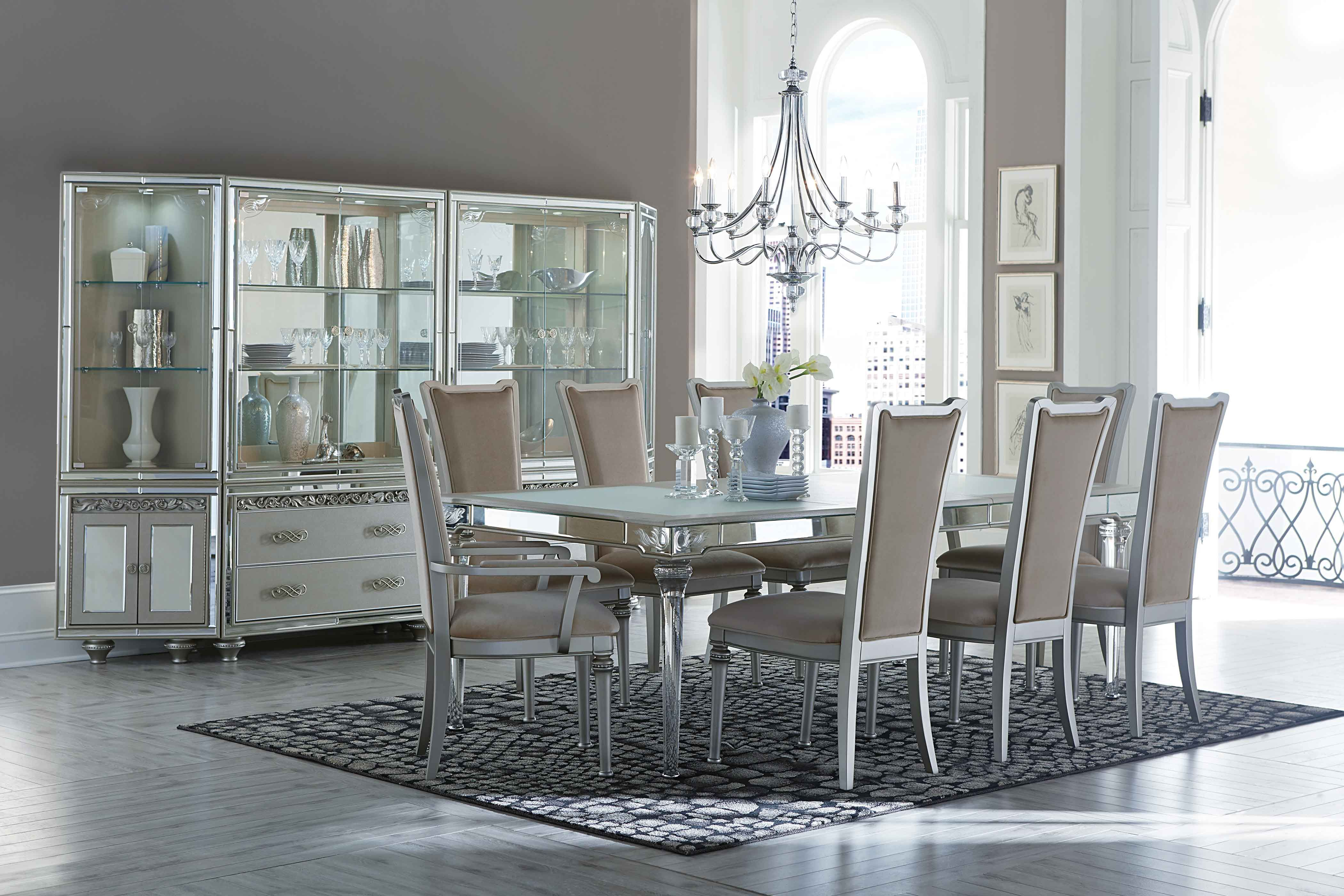 Aico Bel Air Park Dining Room Set This Chic And Fashionable Group