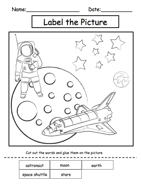 math worksheet : my place in the space  take the pentake the pen  work  : Solar System Worksheets For Kindergarten