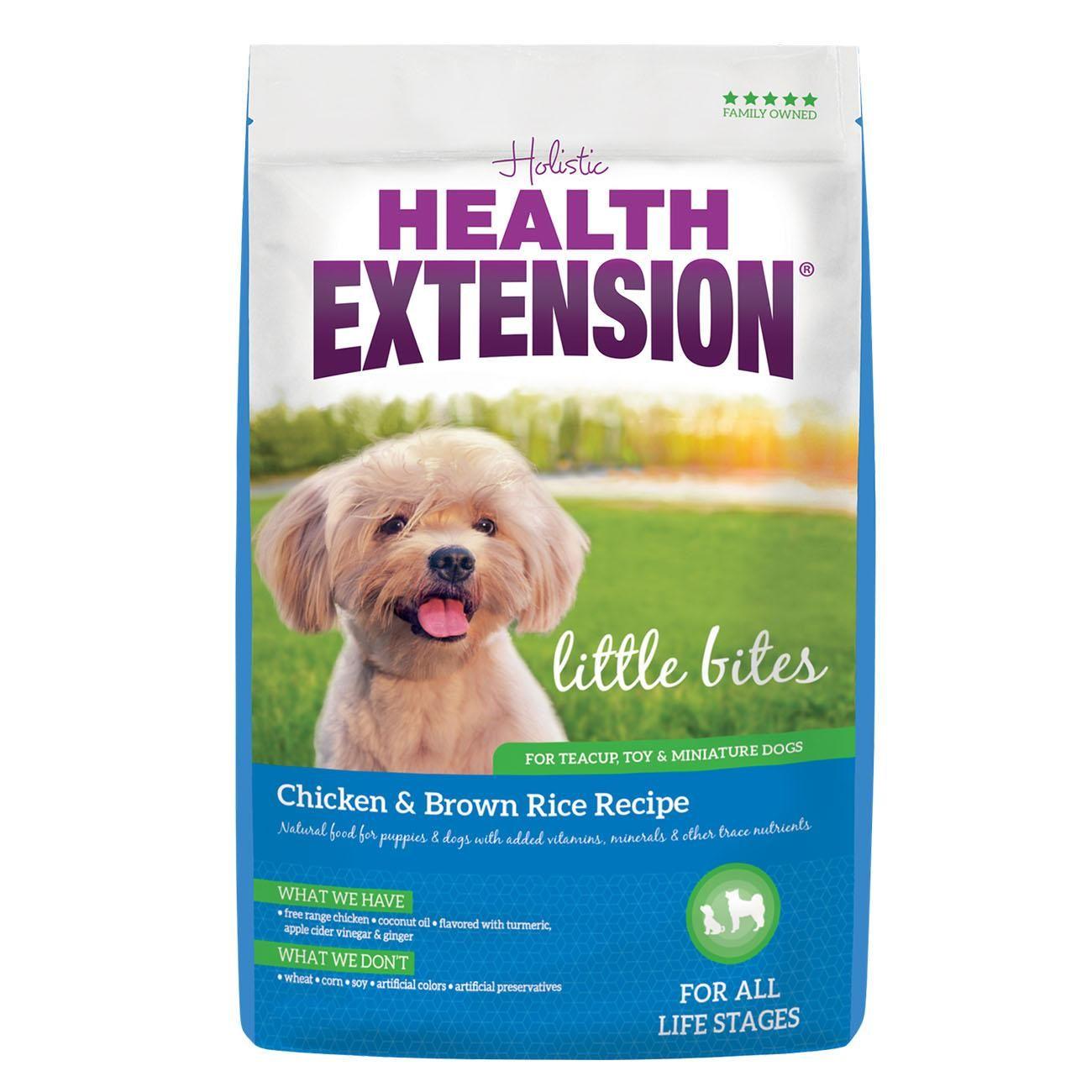 Health Extension Little Bites Chicken Brown Rice Recipe Dry Dog Food In 2020 Brown Rice Recipes Chicken And Brown Rice Dog Food Recipes