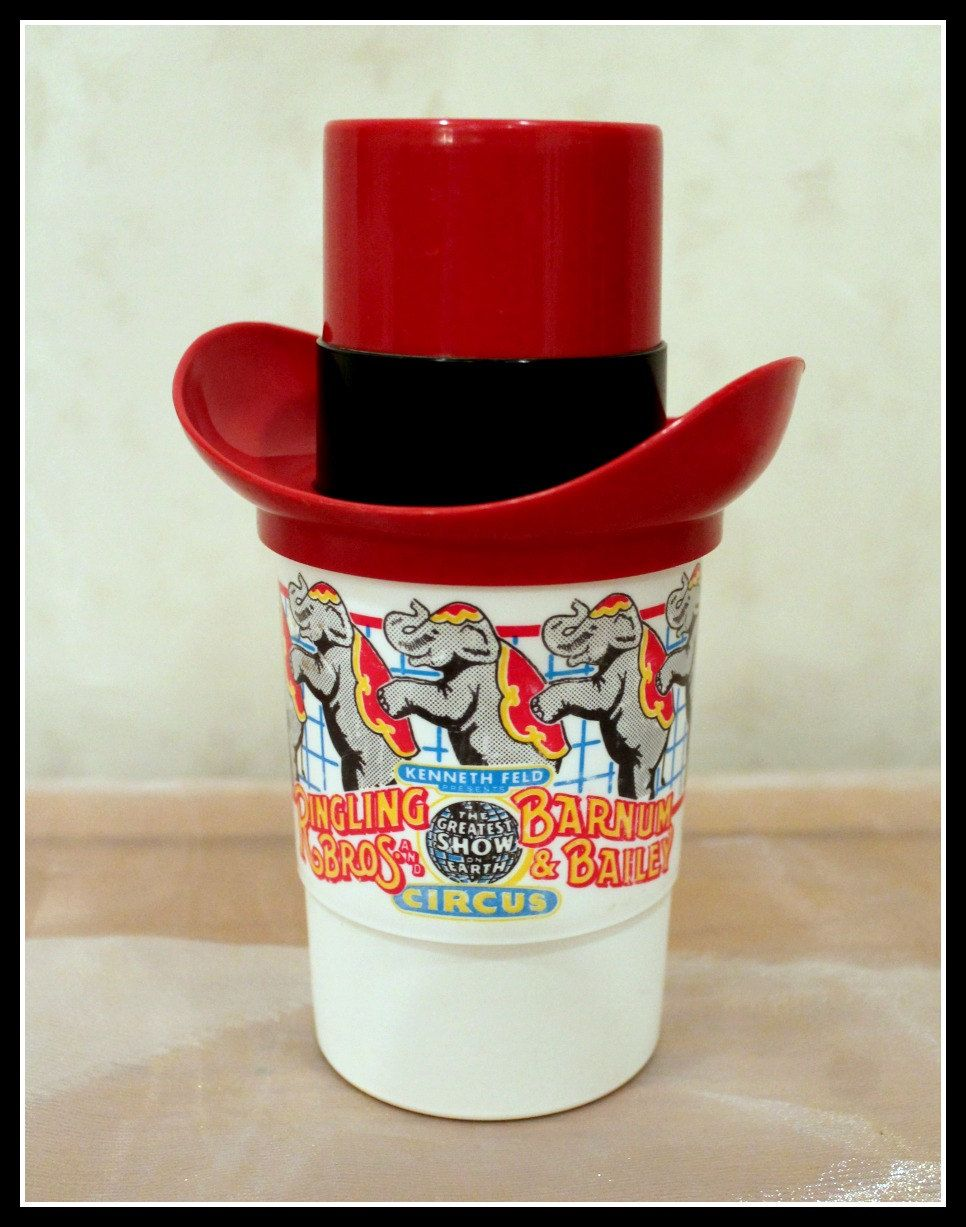 Kenneth Feld Presents Ringling Brothers and Barnum & Bailey Circus Top Hat Cup, Whirley Industries Souvenir Cup by InfinityCreationsCo on Etsy
