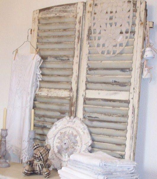 d co et recyclage de vieux volets et persiennes en bois custo d co pinterest. Black Bedroom Furniture Sets. Home Design Ideas