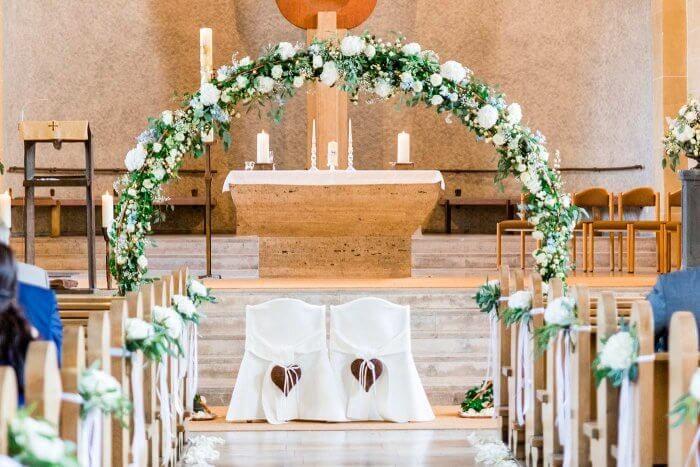 Hochzeit Kirchendekoration | Bildergalerie mit vielen Beispielen