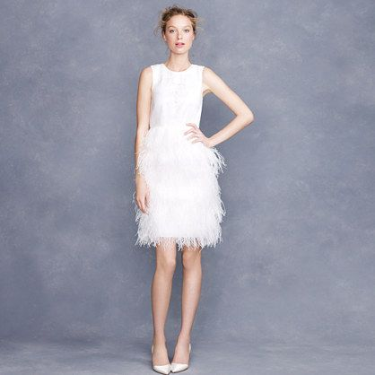 Embroidered feather dress
