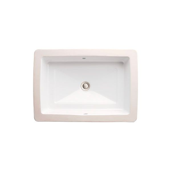 DXV Pop Petite Rectangle x x Under Counter Bathroom Sink- Canvas White Bowl  Inside Dimensions: wide front to back depth