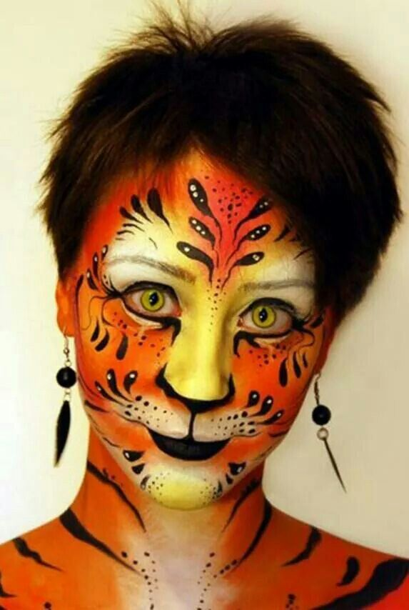 Pretty Tiger | face Painting | Tiger face paints, Face
