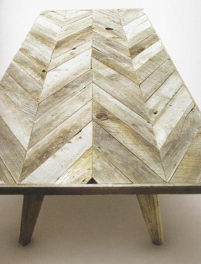 .Chevron reclaimed wood table...gorgeous!