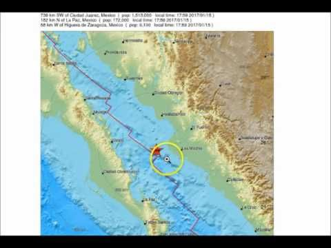 alert earthquake m 4 1 gulf of california usgs not reported youtube