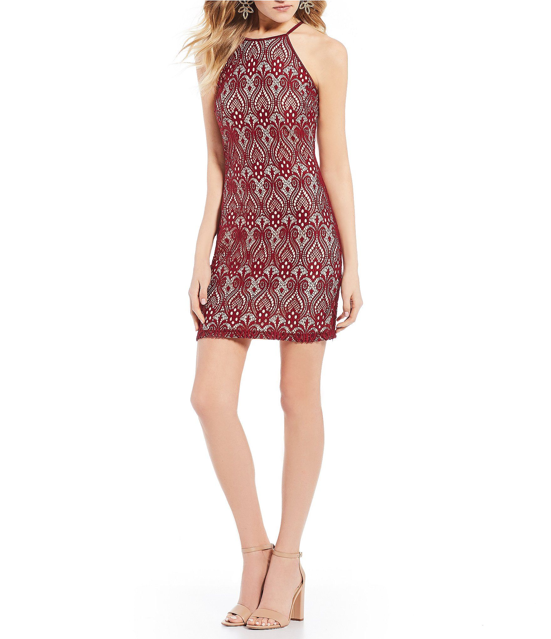 Shop for midnight doll high neck lace sheath dress at dillards