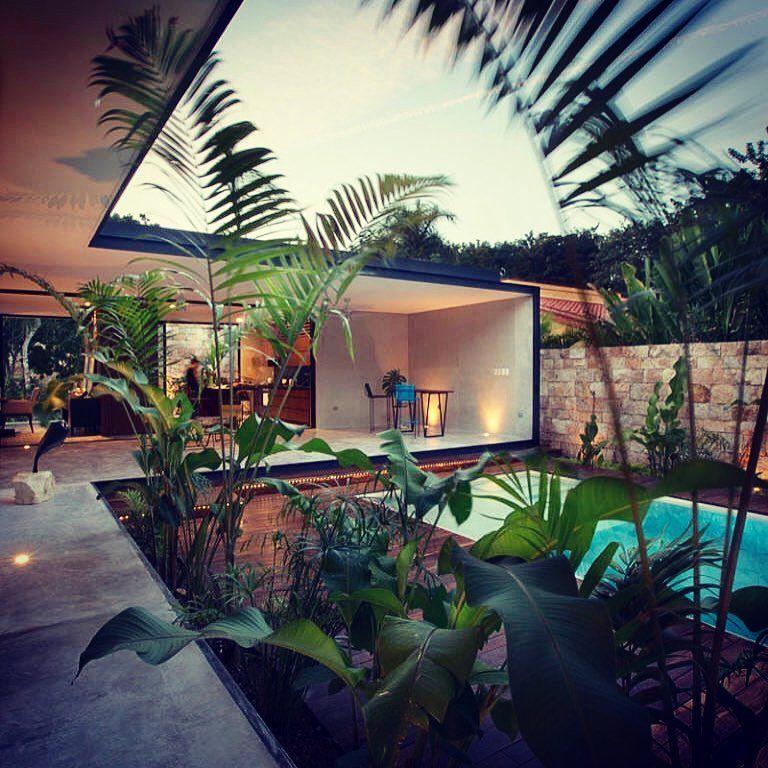 Indoor Outdoor Living #modernarchitecture #weekendhome # ... on Tropical Outdoor Living id=37152