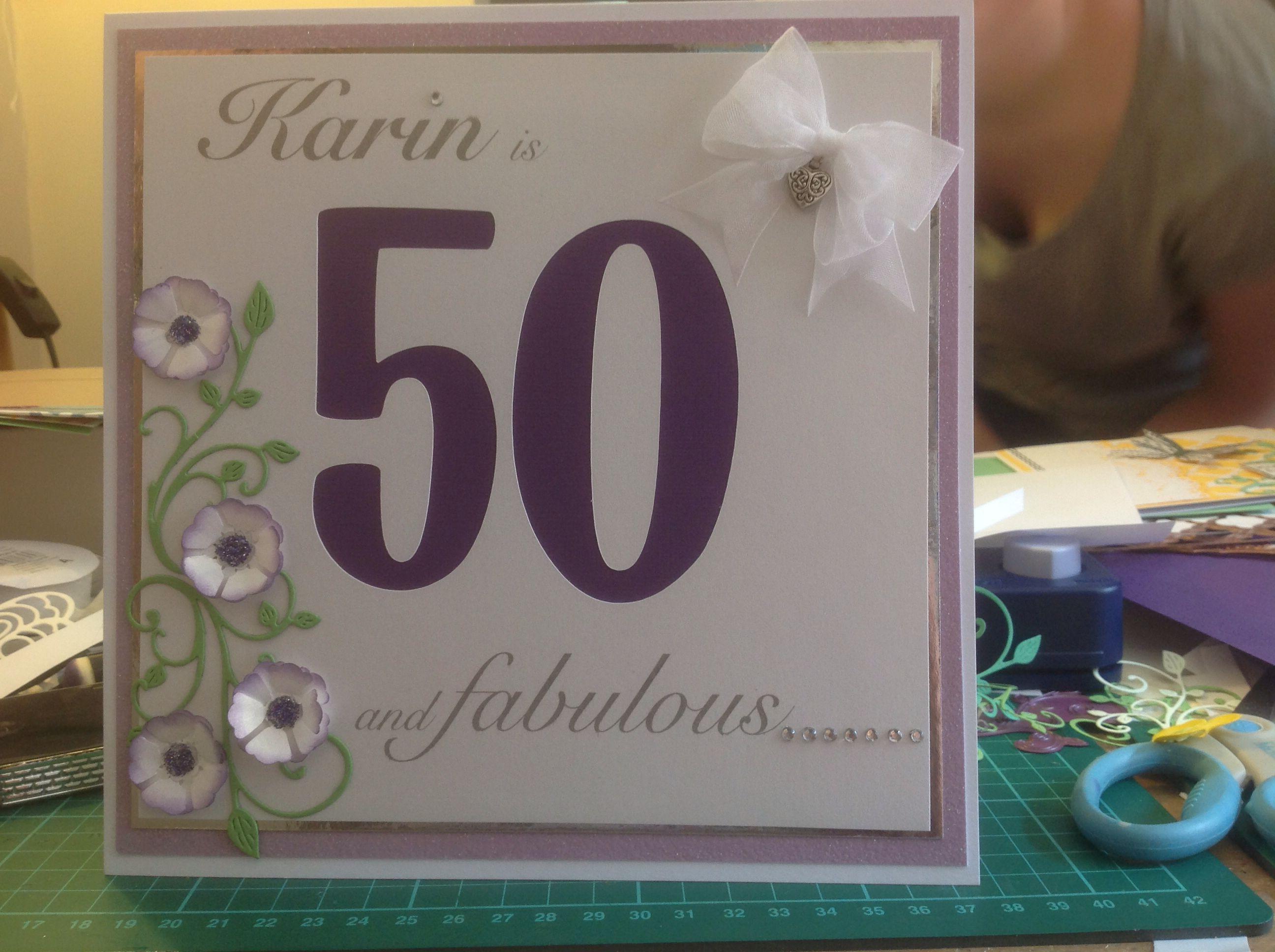 female 50th birthday card  creative cards 50th birthday