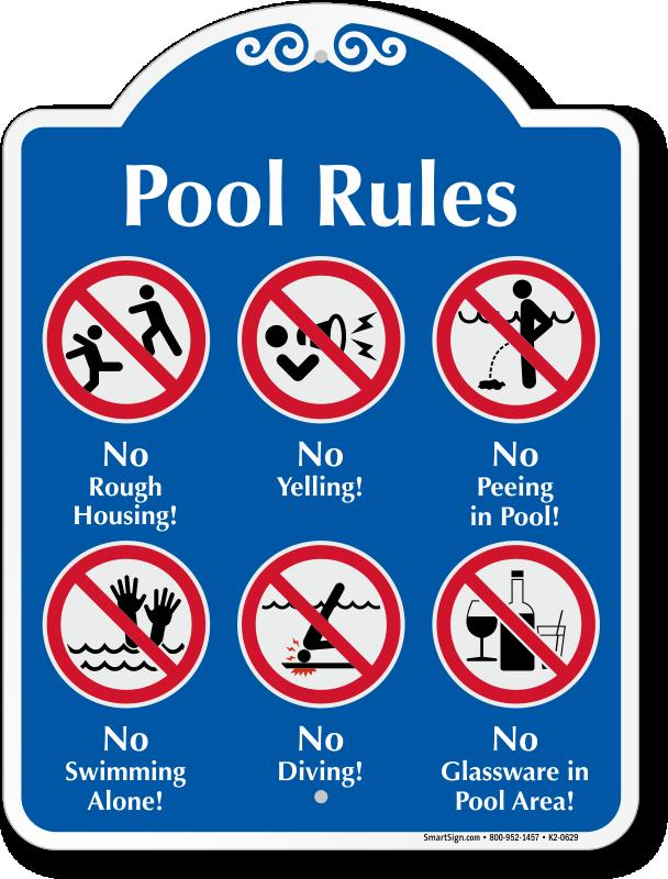 Pool Rules Symbol Signature Sign Pool Rules Swimming Rules Swimming Pool Rules