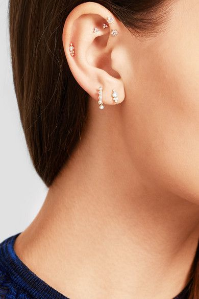 Maria Tash Tiny 18-karat Gold Diamond Earring lmLyB