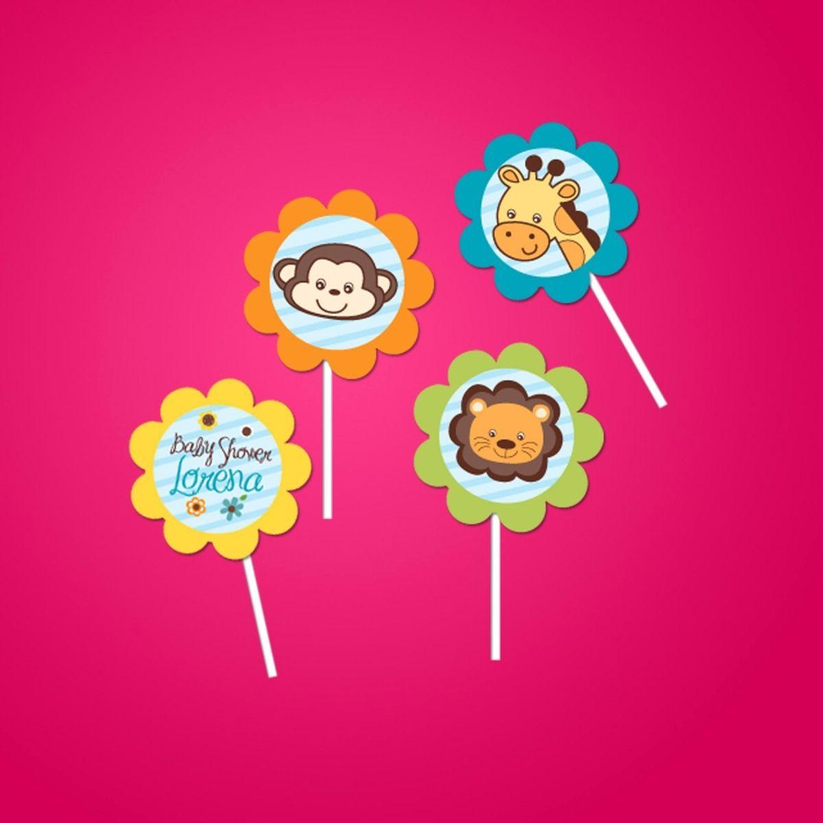 30 Toppers Para Cupcakes Mesa De Dulces Bautizo Baby - $ 80.00 en MercadoLibre